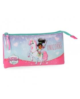 Neceser  Unicorn 3 compartimentos Nella Multicolor 22cm | Maletia.com