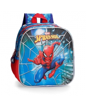 Spider-Man Mochila guardería frontal 3D Spiderman Street Multicolor - 1