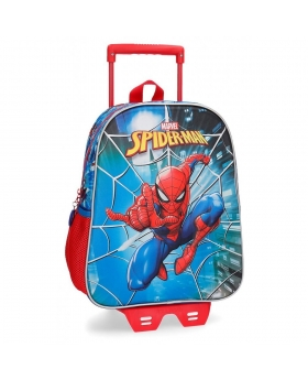 Spider-Man Mochila  frontal 3D con carro Spiderman Street Multicolor - 1