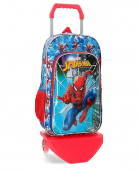 Spider-Man Mochila 40 cm con carro Spiderman Street Multicolor - 1