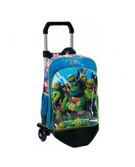 Tortugas Ninja Mochila con carro  Azul - 1