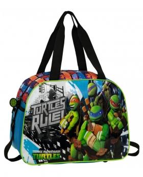 Tortugas Ninja Bolsa De Viaje  Azul - 1