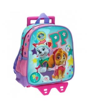 Patrulla Canina Mochila preescolar con carro La  Girl Pup Azul - 1