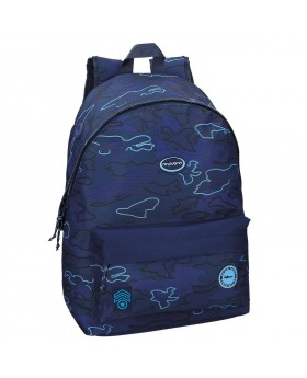 Mochila escolar Movom Camu Azul - 42cm   Maletia.com