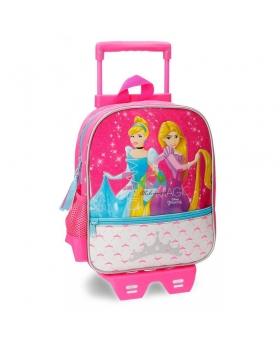 Princesas Mochila preescolar  Disney bolsillo frontal con carro  Rosa - 1