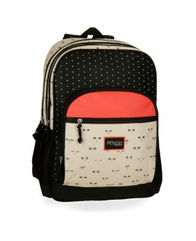 Mochila adaptable a carro  Wink Beig Doble Compartimento 44cm Movom Multicolor 45cm | Maletia.com