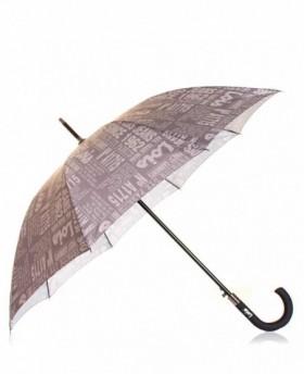 Paraguas Lois Largo automático Gris Estampado - 86cm | Maletia.com