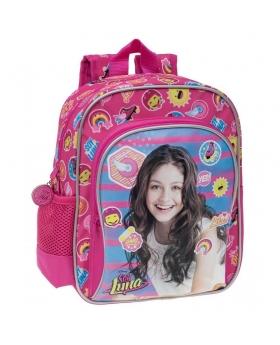Soy Luna Mochila preescolar bolsillo frontal Yo soy Luna Rosa - 1
