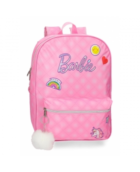 Barbie Mochila  42 cm adaptable a carro Rosa - 1