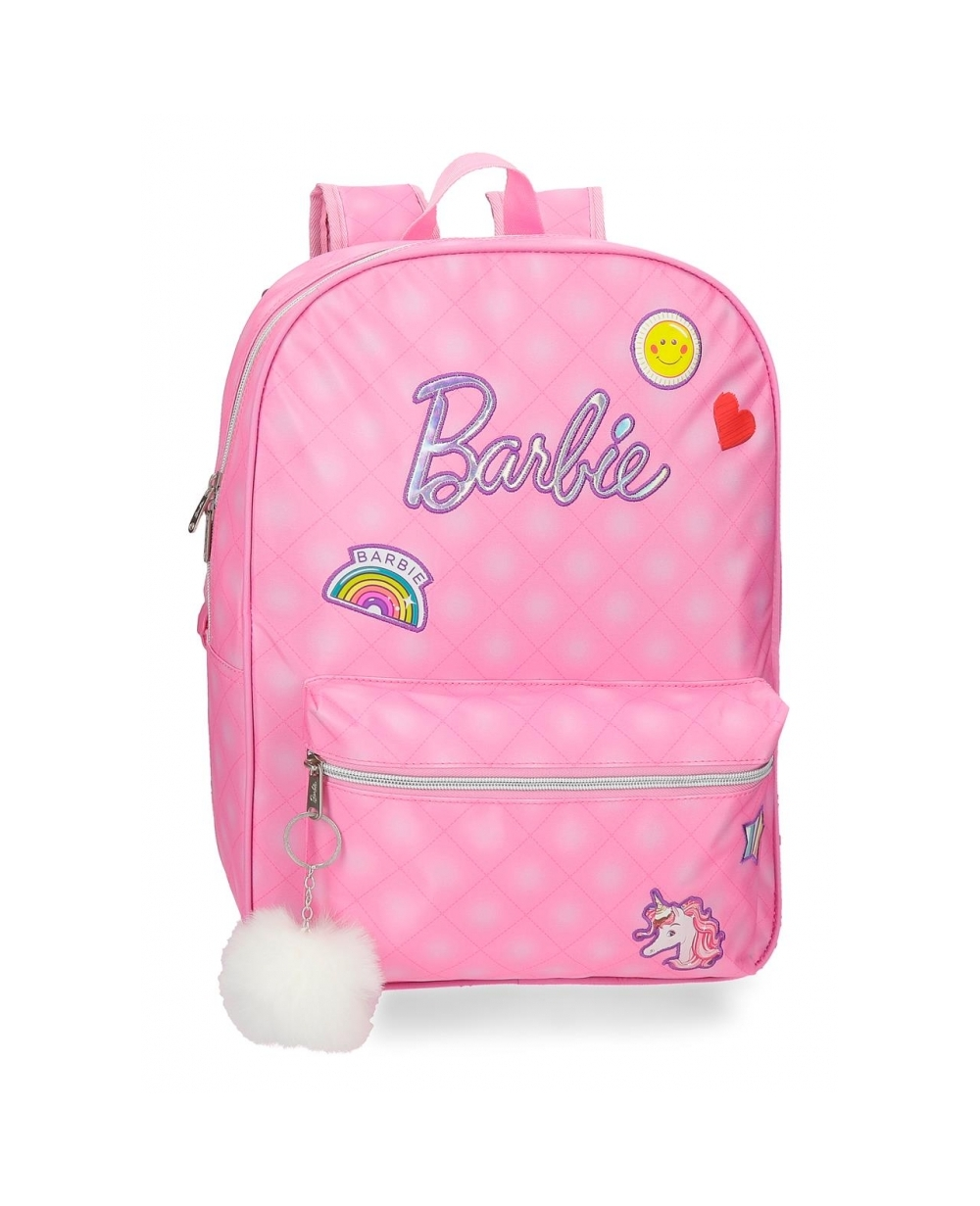 Barbie Mochila  42 cm adaptable a carro Rosa (Foto )