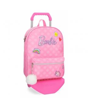Barbie Mochila  42 cm con carro Rosa - 1