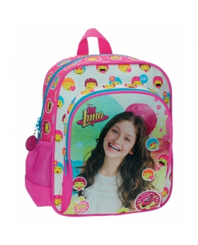 Soy Luna Mochila bolsillo frontal adaptable a carro Luna Icons Rosa - 1