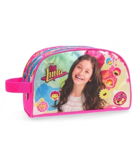 Soy Luna Neceser doble compartimento adaptable a trolley Luna Icons Rosa - 1
