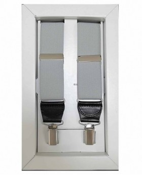 Tirantes Dalvi Lisos en Gris Claro - 110cm | Maletia.com