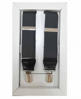 Tirantes Dalvi Lisos en Gris Oscuro - 110cm | Maletia.com
