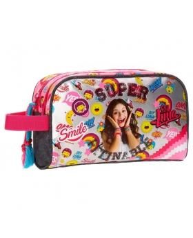 Soy Luna Neceser doble compartimento adaptable a trolley  Smile Multicolor - 1