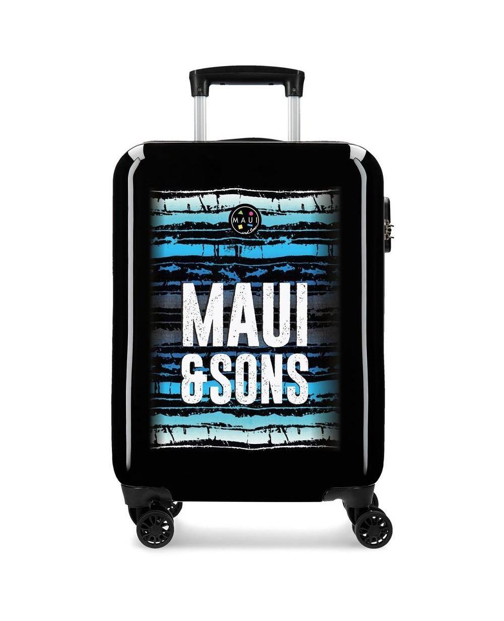 Maui and Sons Maleta de cabina Maui Waves Negra (Foto )