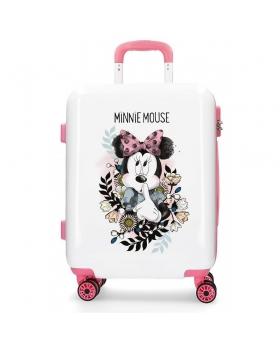 Minnie Mouse Maleta de cabina Minnie Style flores rígida  Blanco - 1