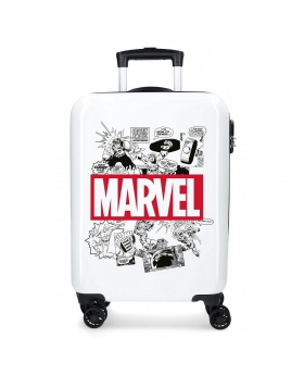 Marvel Maleta de cabina rígida Comic  Blanco - 1