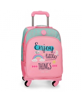 Roll Road Mochila 4 ruedas  Little Things Rosa - 1