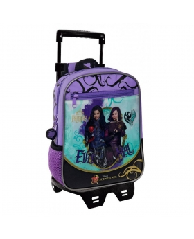 Descendants Mochila preescolar con carro  Fairest Morado - 1