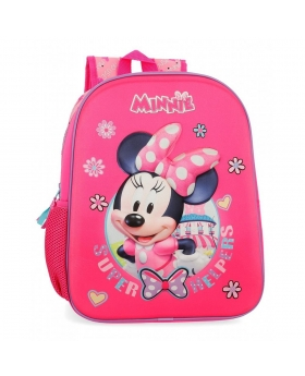 Minnie Mouse Mochila  Minnie Super Helpers Rosa - 1