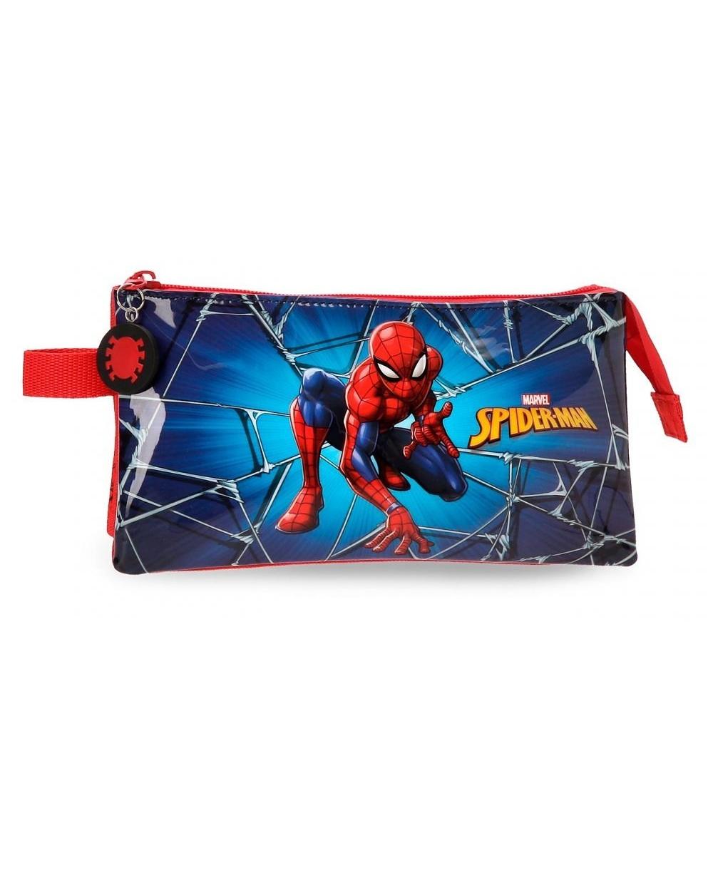 c78ff7425 Estuche tres compartimentos Spiderman Black Spider-Man Multicolor ...