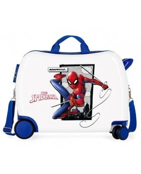 Spider-Man Maleta correpasillos 2 ruedas multidireccionales Spiderman Action Azul - 1