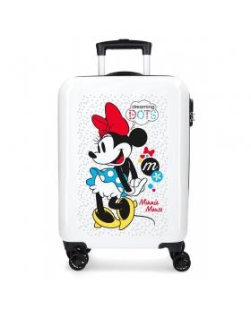 Minnie Mouse Maleta de cabina rígida Minnie Enjoy the Day Dots Blanco - 1