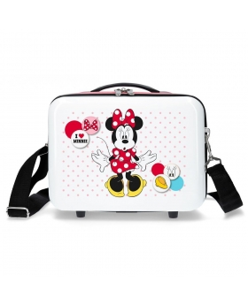 Minnie Mouse Neceser adaptable a trolley Minnie Enjoy the Day Love Blanco - 1