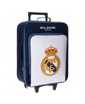 Real Madrid Maleta de cabina Maginum Blanca Bolsillo Frontal Blanco - 1