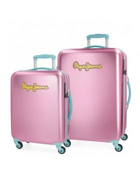Pepe Jeans Juego de maletas  Bristol  rígidas 55- Rosa - 1