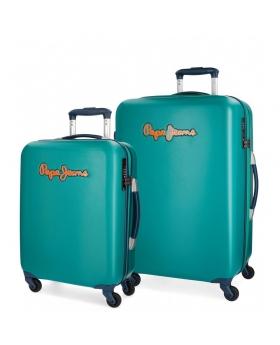 Pepe Jeans Juego de maletas  Bristol  rígidas 55- Verde - 1