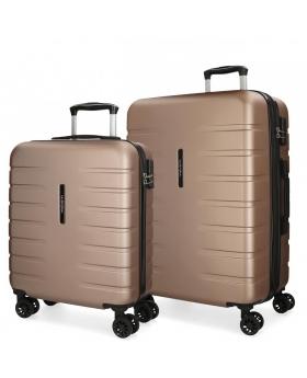 Movom Juego de 2 maletas rígidas 55-69  Turbo champagne Beige - 1