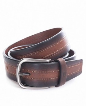 Cinturón de piel Miguel Bellido Clásico Marrón - 90cm | Maletia.com