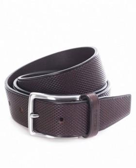 Cinturón de piel Miguel Bellido Clásico grabado - 90cm | Maletia.com