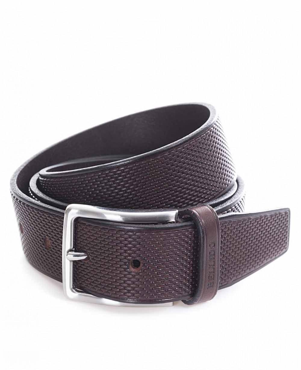 Miguel Bellido Cinturón clásico Piel grabado Marrón 105 (Foto )