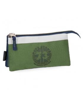 Estuche  Joss tres compartimentos Pepe Jeans Verde 22cm | Maletia.com