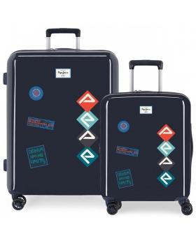 Juego de maletas rígidas 55-70 cm  Paul Pepe Jeans Azul 70cm | Maletia.com