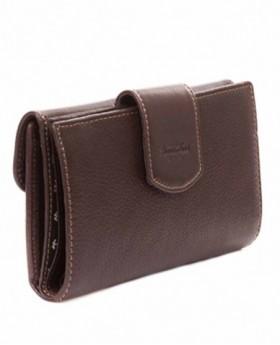 Monedero billetero de piel Amichi Mónaco Marrón - 17cm | Maletia.com