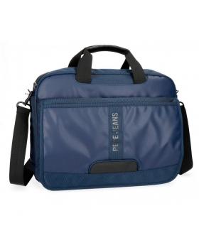 Bandolera para portátil  Bromley con solapa  Pepe Jeans Azul 40cm | Maletia.com