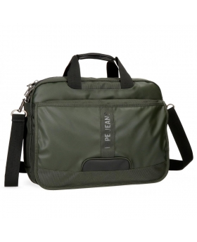 Bandolera para portátil  Bromley con solapa  Pepe Jeans Verde 40cm | Maletia.com