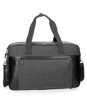 Bolsa de viaje  Cranford Negra Pepe Jeans Negro 50cm | Maletia.com