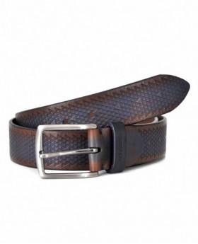 Cinturón de piel Miguel Bellido Sport Marrón - 100cm | Maletia.com