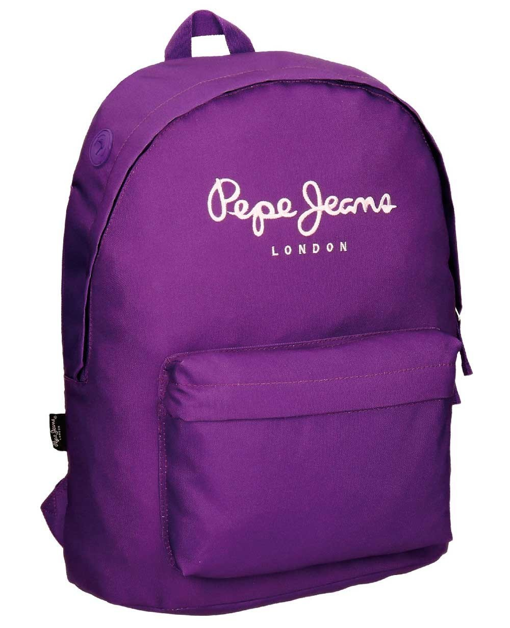 Pepe Jeans Plain Color Mochila adaptable Morada 0