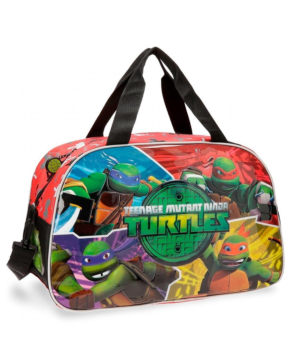 Tortugas Ninja Cartoon Bolsa de Viaje Multicolor (Foto )
