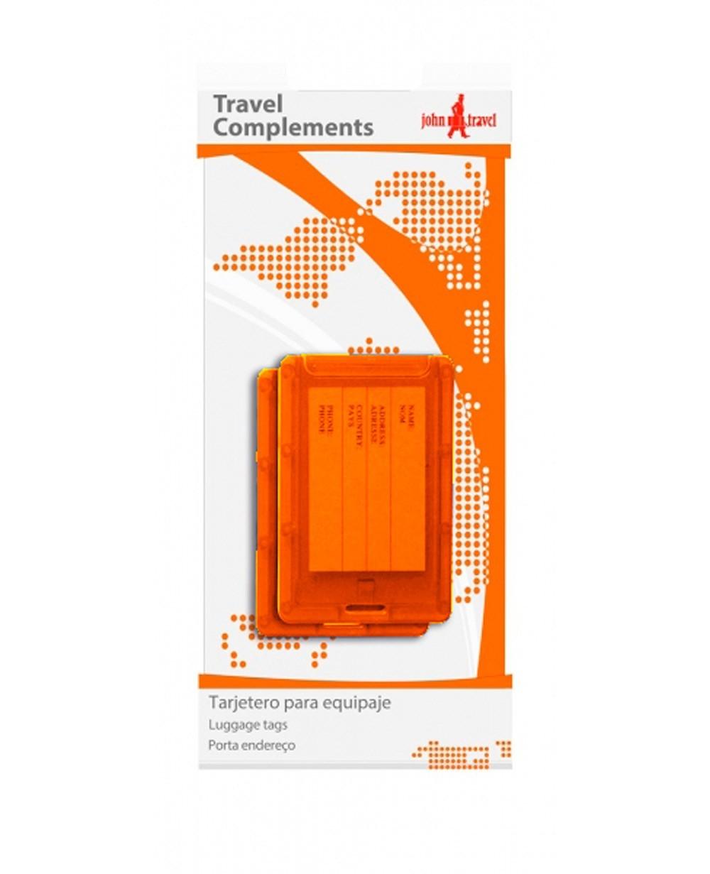 John Travel Tarjetero para equipaje Naranja (Foto )