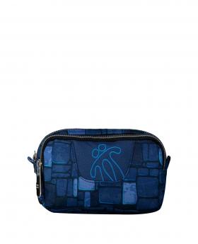 Totto Estuche escolar dos compartimentos estampado stony Azul - 1