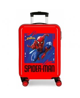 Spider-Man Maleta de cabina Spiderman Street rígida en rojo Rojo - 1