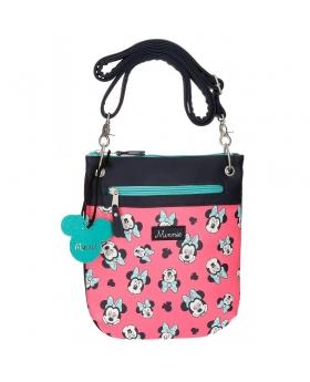 Minnie Mouse Bandolera Minnie Wink con bolsillo frontal Rosa - 1